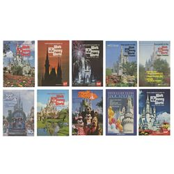 Collection of (10) Walt Disney World Guidebooks.
