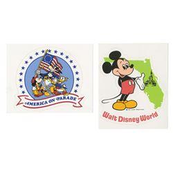 Pair of Walt Disney World Stickers.