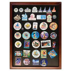 Set of (39) Walt Disney World Anniversary Buttons.