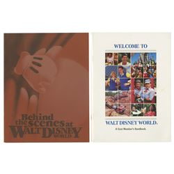 Pair of Walt Disney World Cast Member Handbooks.
