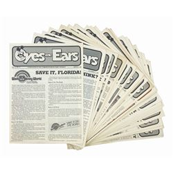 Collection of (63) WDW Eyes and Ears Newspapers.
