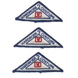 Set of (3) Wardrobe & Costume Department Patches.