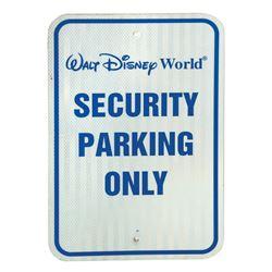 Walt Disney World Security Officer Parking Sign.