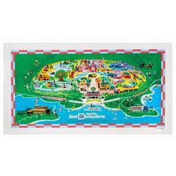 Walt Disney World 40th Anniversary Map.