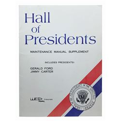 Hall of Presidents Maintenance Manual Supplement.