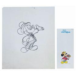 Original Ralph Kent Mickey Mouse Drawing.