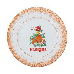 Orange Bird Ceramic Plate.