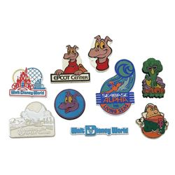 Collection of (9) Assorted Walt Disney World Magnets.