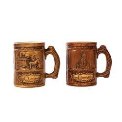 Pair of Walt Disney World Ceramic Mugs.