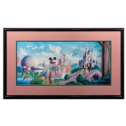 """Walt's Vision"" Disney Parks Print."