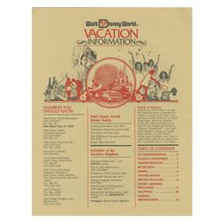 Walt Disney World Vacation Information Brochure.