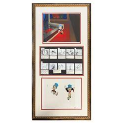 Jiminy Cricket Framed Cels with Storyboards.