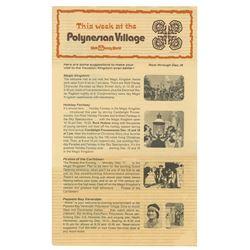 Polynesian Village Flyer.