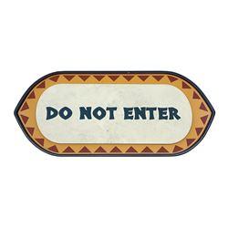 Polynesian Village Do Not Enter Sign.