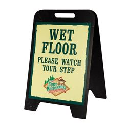 Fort Wilderness Wet Floor Sign.