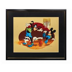Don Williams Mickey & Friends Basketball Painting.