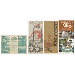 Group of (4) Walt Disney World Village Items.