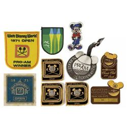 Set of (10) Walt Disney World Pro-Am Souvenirs.