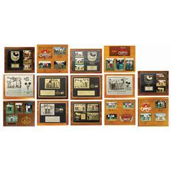 Set of (14) Walt Disney World Golf Classic Plaques.