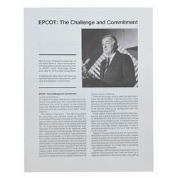 """Epcot: The Challenge and Commitment"" Booklet."