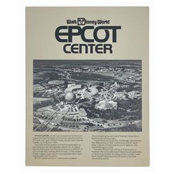 Epcot Center Pre-Opening Brochure.