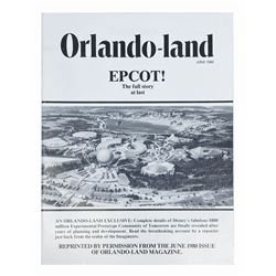 """Orlando-land"" Magazine Epcot Issue Reprint."