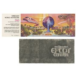 Epcot Grand Opening Commemorative Child's Ticket.