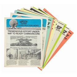 "Collection of (12) ""Epcot Center News"" Issues."