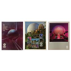 Collection of (3) Epcot Grand Opening Posters.