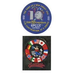 Epcot 10th Anniversary Patch & Sticker.