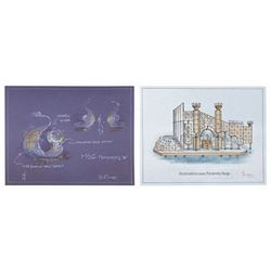 Pair of Illuminations 2000 Concept Drawings.