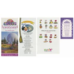 Collection of (4) Epcot Festival Brochures.