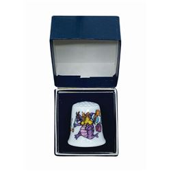 Journey Into Imagination Figment Ceramic Thimble.