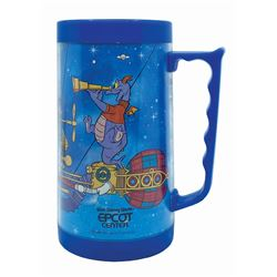 Epcot Figment & Dreamfinder Plastic Thermal Mug.