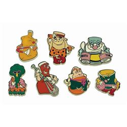 Set of (7) Kitchen Kabaret Magnets.
