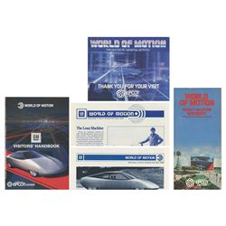 Collection of World of Motion Paper Items.