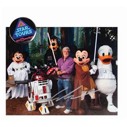 George Lucas Signed Star Tours Photo.