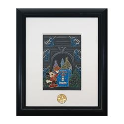 Spectacle of Lights Mickey Pin with Original Artwork.