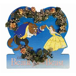 Beauty and the Beast Floral Display Sign.