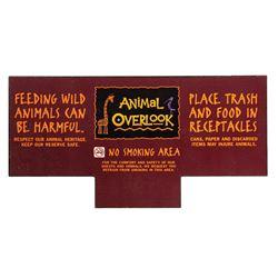 Animal Kingdom Lodge Patio Sign.
