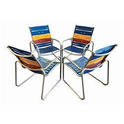 Set of (4) Disney Cruise Beach Chairs.