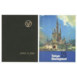 Tokyo Disneyland Pre-Opening & Grand Opening Booklets.