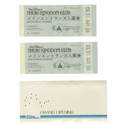 Pair of Magic Kingdom Club Ticket Books.