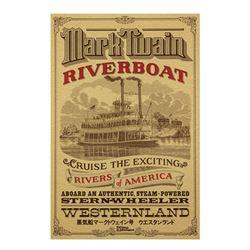 Tokyo Disneyland Mark Twain Riverboat Poster.