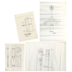 Set of (4) Big Thunder Mountain Xeroxes with Notes.