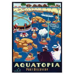 Original Aquatopia Attraction Poster.