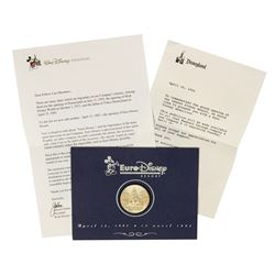 Disneyland Paris Opening Day Commemorative Coin.