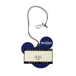 Disneyland Paris Inauguration Identification Badge.