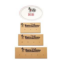 Collection of (4) Disneyland Paris Nametags.