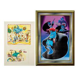 Disneyland Paris Aladdin Concept Art & Poster.